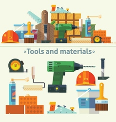 Tools and materials for the repair and constructio vector image