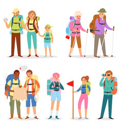 Tourist traveling people tripper traveler vector