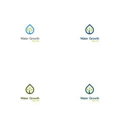 tree drop creative logo design vector image