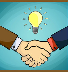 two businessman shaking hands vector image