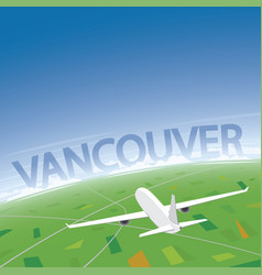 Vancouver flight destination vector