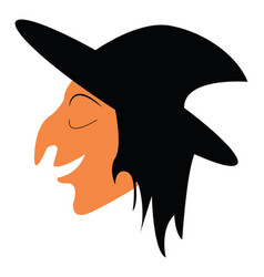 Woman in halloween costume or color vector