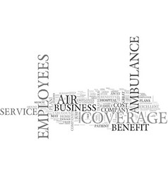 Air ambulance service coverage makes a great vector