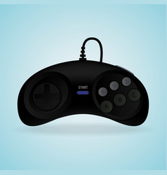black gamepad video game controller vector image vector image