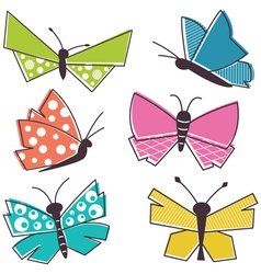 colorful buterfly vector image vector image