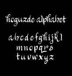 Hoguzde alphabet typography vector
