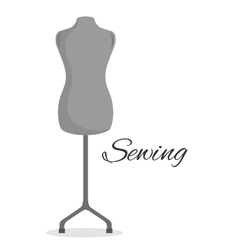 manikin couturier isolated icon design vector image