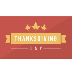 Thanksgiving da flat background vector