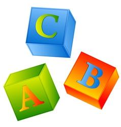 Abc cubes vector