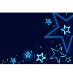 blue stars vector image vector image