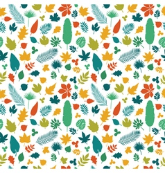 Cute seamless pattern with colored leaves Autumn vector image