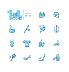 kinds of sport - line icons set vector image