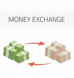 Money exchange vector image vector image