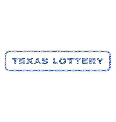 Texas lottery textile stamp vector