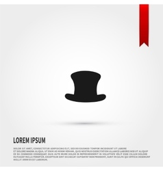Top hat icon Top hat symbol Flat design style vector image
