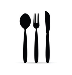 cutlery in black color design art vector image vector image