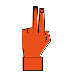 hand with two fingers up icon image vector image