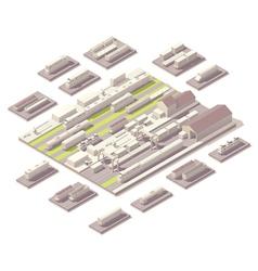 Isometric railroad yard vector image vector image