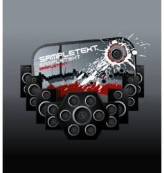 music speakers bloody design element vector image