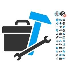 Toolbox Icon With Free Bonus vector image vector image