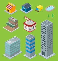 3D Buildings vector image