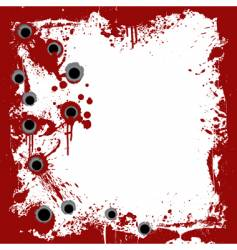 bloody frame with gunshots background vector image vector image