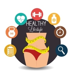Fitness healthty lifestyle design vector image