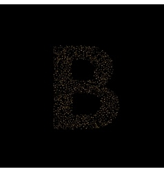Magic B letter vector image