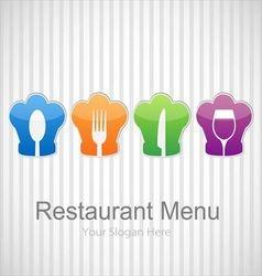 Restaurant menu background vector