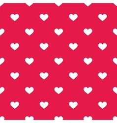 Tile cute pattern with white hearts on pastel pink vector image