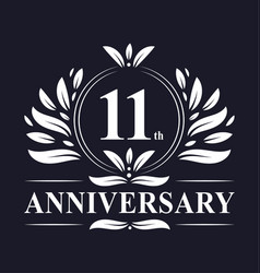11 years anniversary logo 11th anniversary vector