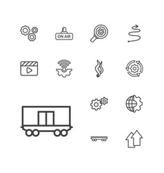 13 motion icons vector