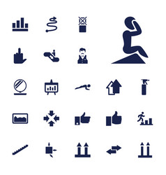 22 up icons vector