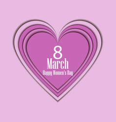 8 march day international womens day paper vector image