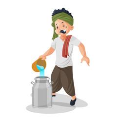 a milkman vector image