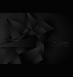 abstract black geometric polygonal form vector image