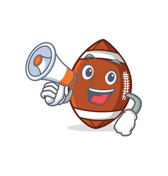 American football character cartoon with megaphone vector
