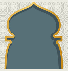 Arabic window design ramadan kareem greeting card vector