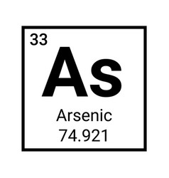 Arsenic periodic table element icon chemical vector