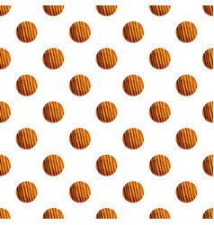 bakery biscuit pattern seamless vector image