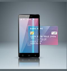 bank card smartphone digital gadget icon vector image