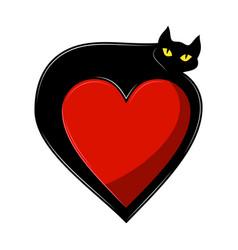 black cat 0007 vector image