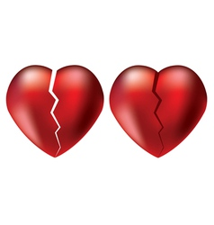 Broken hearts vector