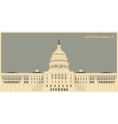 Capitol Building in Washington DC vector