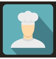 Chef icon flat style vector image