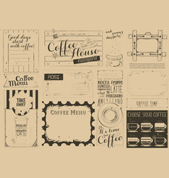 Coffee menu craft placemat vector