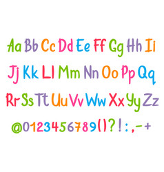 Coloful alphabet in sketchy style vector