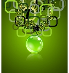 Concept with rectangles and sphere Grunge vector image