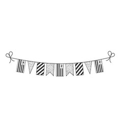 Decorations bunting flags for ambazonia national vector