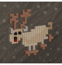 Deer Pixel art Funny animals vector